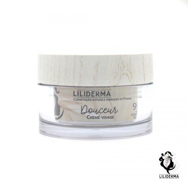 Crème visage lissante Douceur visage- Cosmétiques naturels sans perturbateurs endocriniens LILIDERMA