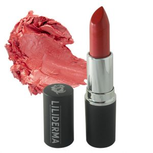 Rouge à lèvres tenue longue durée rouge satiné sans paraben à base de cires naturelles non testé sur les animaux fabriqué en France - LILIDERMA