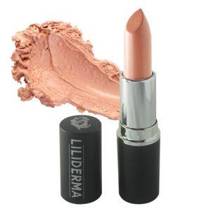 Rouge à lèvres tenue longue durée nude clair sans paraben à base de cires naturelles non testé sur les animaux fabriqué en France - Lutin - LILIDERMA