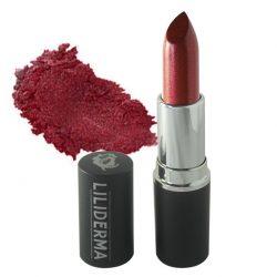 Rouge à lèvres nacré tenue longue durée brun sans paraben à base de cires naturelles non testé sur les animaux fabriqué en France - Magique - LILIDERMA