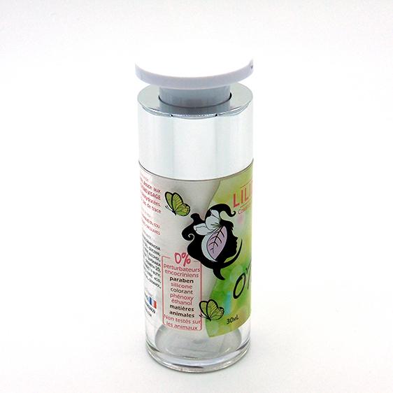 Crème visage O'Tonic 30mL - LILIDERMA Cosmétiques naturels sans perturbateurs endocriniens fabriqués en France