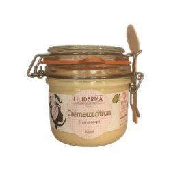 Crème corps raffermissante Crémeux Citron - LILIDERMA - Cosmétiques naturels sans perturbateurs endocriniens, non testés sur les animaux, fabriqués en France