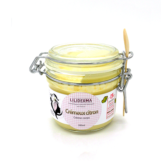 Crème corps raffermissante Crémeux Citron - LILIDERMA