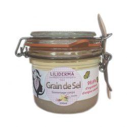 Gommage corps Vanille - Grain de Sel - LILIDERMA - Cosmétiques naturels sans perturbateurs endocriniens, non testés sur les animaux, fabriqués en France