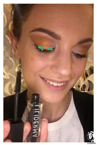 Application du mascara effet volume - Maquillage de fêtes pour les yeux - Cosmétiques naturels fabriqués en France non testés sur les animaux - LILIDERMA