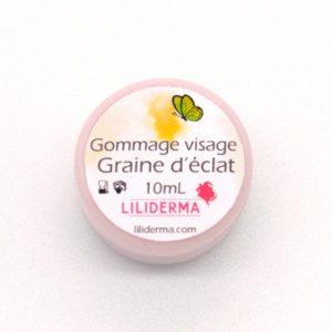 Gommage visage Graine d'éclat format voyage - Cosmétiques naturels sans perturbateurs endocriniens fabriqués en France - LILIDERMA