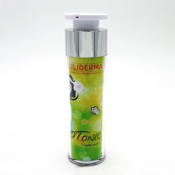 Crème visage O'Tonic 50mL - LILIDERMA Cosmétiques naturels sans perturbateurs endocriniens fabriqués en France