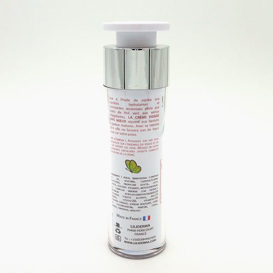 Crème visage jeunesse Temps mieux 50mL - LILIDERMA Cosmétiques naturels sans perturbateurs endocriniens fabriqués en France