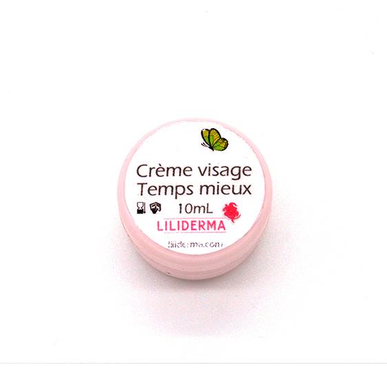 Crème visage jeunesse Temps mieux format voyage 10mL - LILIDERMA Cosmétiques naturels sans perturbateurs endocriniens fabriqués en France