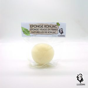 Eponge konjac naturelle pour le visage - Cosmétiques naturels fabriqués en France