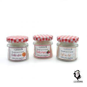 Trio de bougies gourmandes - Bougies végétales fabriquées en France LILIDERMA