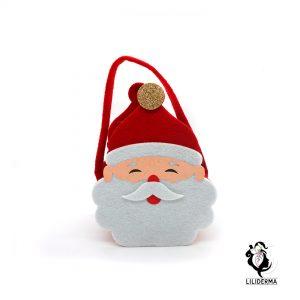 Panier en feutrine Noël Père Noël - Envoyez vos cadeaux pour les fêtes directement depuis notre site ! - Cosmétiques et bien-être naturels fabriqués en France LILIDERMA