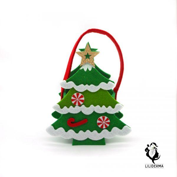Panier en feutrine Noël Sapin de Noël - Envoyez vos cadeaux pour les fêtes directement depuis notre site ! - Cosmétiques et bien-être naturels fabriqués en France LILIDERMA